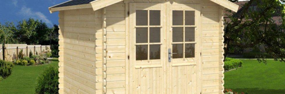Kleines Gartenhaus mit Doppeltür