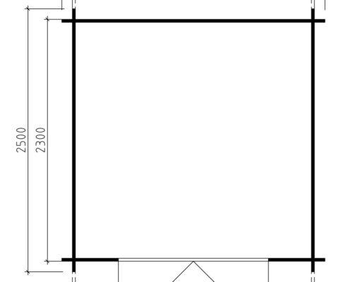 Grundplan Gartenhaus Anita M - Geräteschuppen Andy M