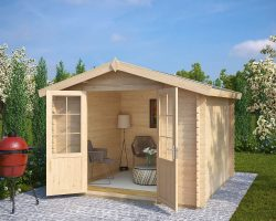 Holz Gartenhaus mit Doppeltür Anita XL