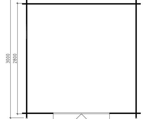 Grundplan Gartenschuppen Andy XL Gartenhaus Anita XL