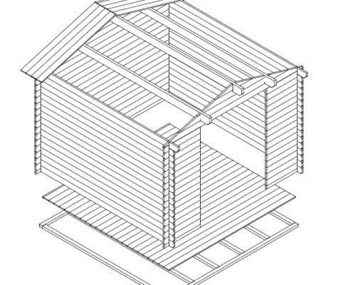 Gartenhaus aus Holz Anita XL Gartenschuppen Andy XL