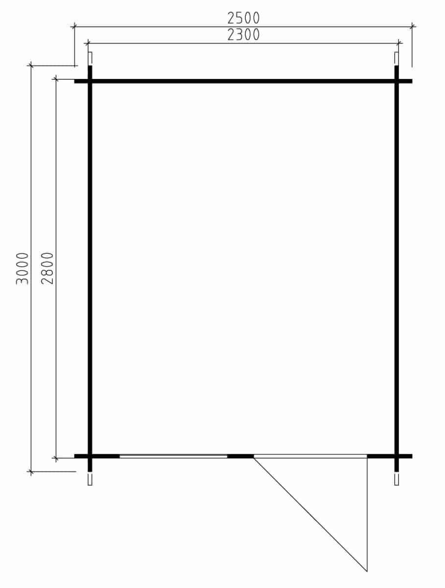 kleines gartenhaus aus holz anke l 6 2m 28mm 2x3. Black Bedroom Furniture Sets. Home Design Ideas