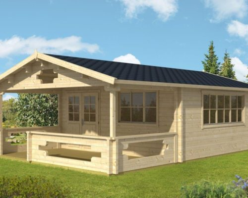 gartenhaus mit veranda armin xl 25m 70mm 5x5 hansagarten24. Black Bedroom Furniture Sets. Home Design Ideas