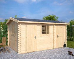 Duplex Holz-Gerätehaus (Gartenhaus 2 räume) Bora