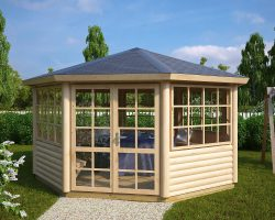 8-Eck Gartenpavillon Seattle XL 15m2