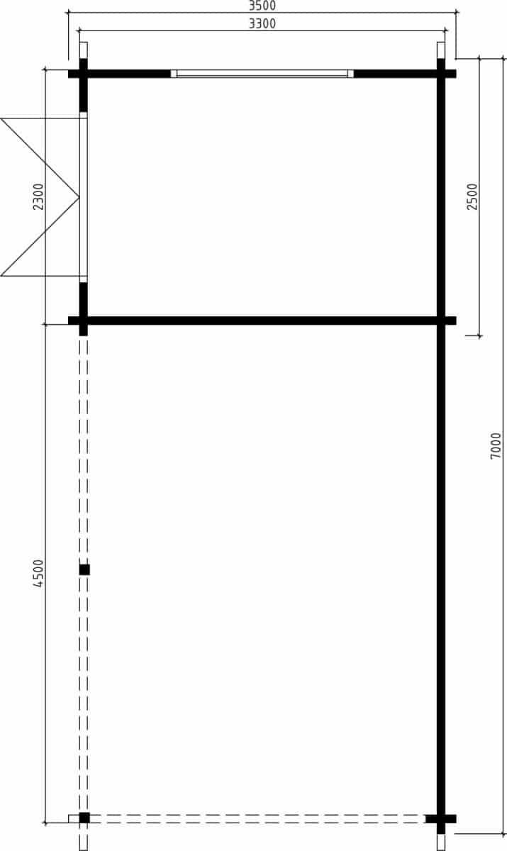 carport mit ger teraum arthur 21m 70mm 3x7 hansagarten24. Black Bedroom Furniture Sets. Home Design Ideas