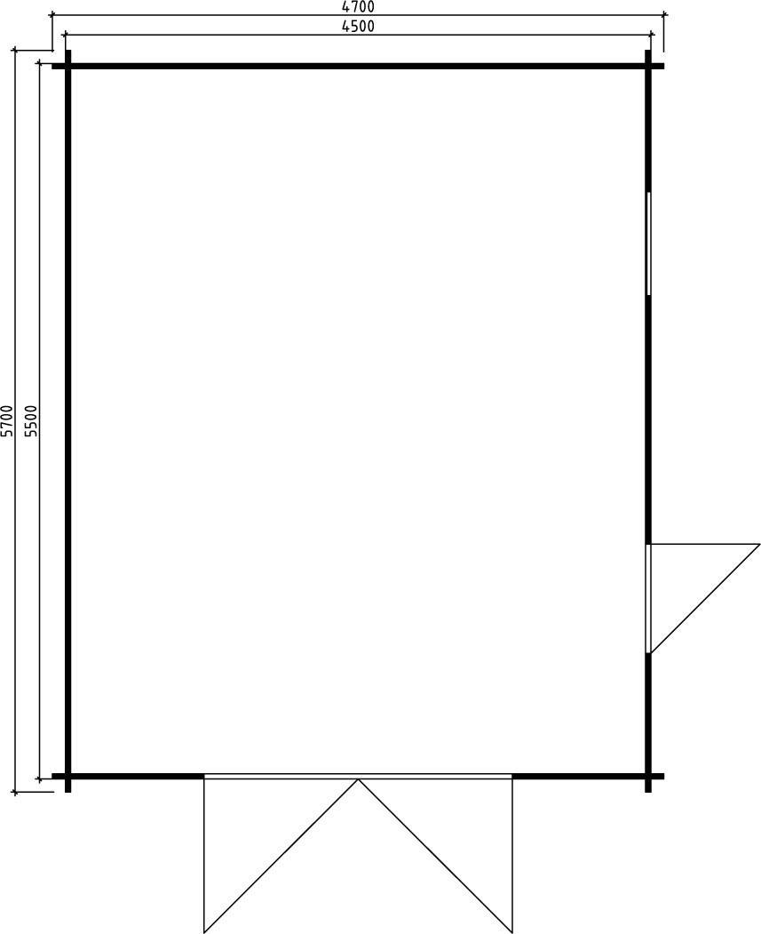 Große Holzgarage B 24m² / 40mm / 5×6