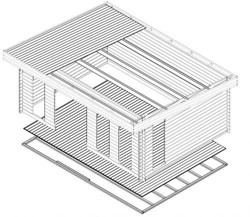 Gartenhaus mit Pultdach Barbados