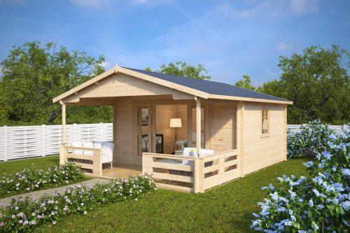 holz gartenhaus mit schiebet r franz 15m 44mm 4x5 hansagarten24. Black Bedroom Furniture Sets. Home Design Ideas