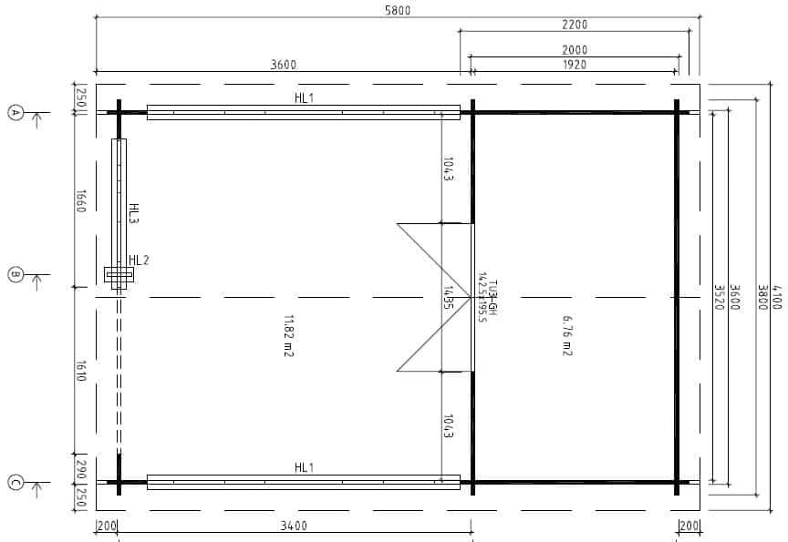 Gartenhaus Mit Veranda Vera 19 M² 40mm 4x6 Hansagarten24