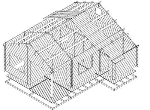 Größe Gartenhaus mit Geräteraum Helsinki