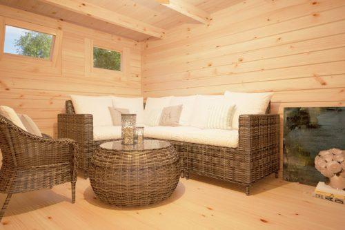 Modernes Gartenhaus mit Terrasse Hansa Lounge XL