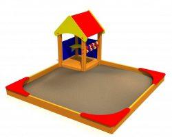 Sandkasten + Spielhaus