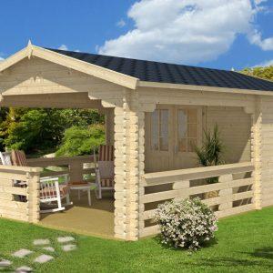 Gartenhaus mit veranda oder terrasse