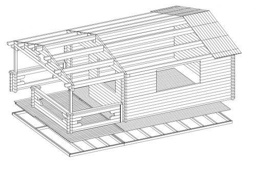 Gartenhaus aus Holz Argmin XL