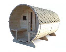 Fass-Sauna Boris mit Terrasse