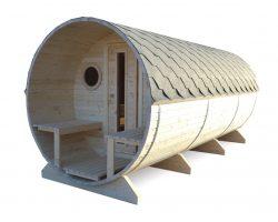 Fass-Sauna Dieter mit Terrasse