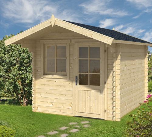 gartenhaus mit vordach monica l 6 2m 28mm 2x3. Black Bedroom Furniture Sets. Home Design Ideas