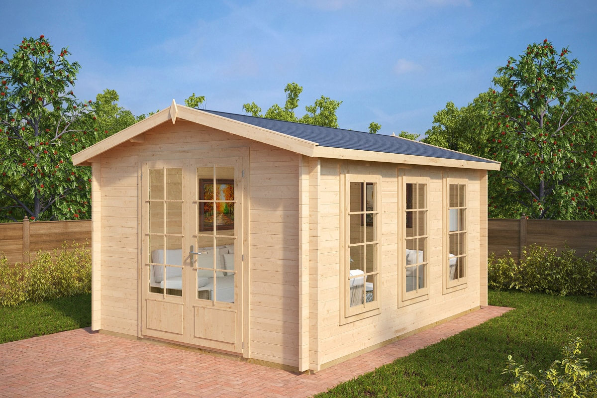 gartenhaus eva b 12m 40mm 3x4 hansagarten24. Black Bedroom Furniture Sets. Home Design Ideas