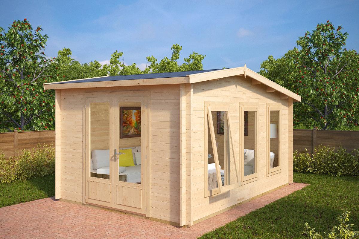 gartenstudio aus holz eva x 12m 40mm 3x4 hansagarten24. Black Bedroom Furniture Sets. Home Design Ideas