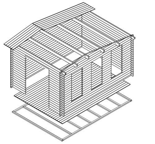 Gartenhaus Holz Eva X