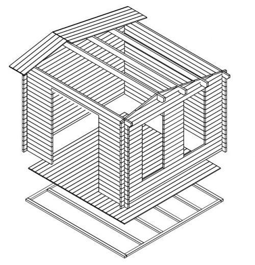 Gartenhaus Holz Nora X