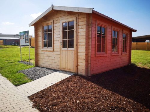 Holz-Gartenhaus Modern Eva C 12m² 40mm 3×4