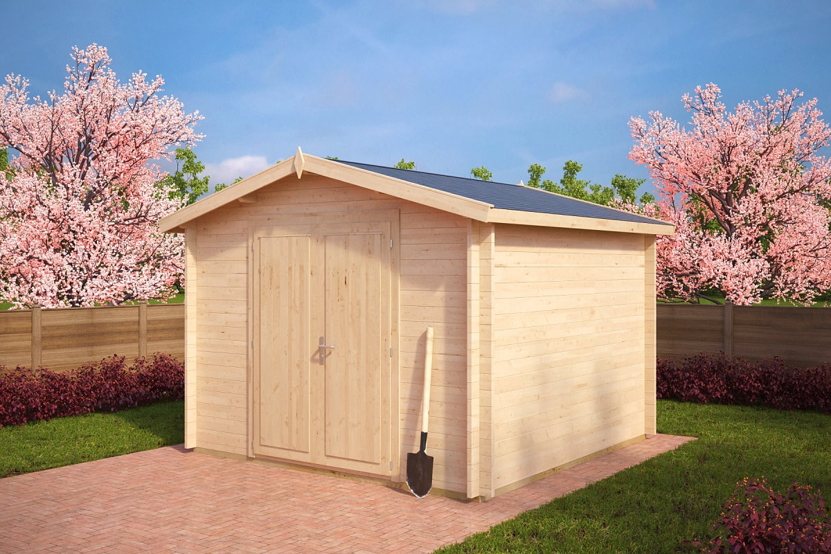 ger tehaus aus holz nora a 8 5m 40mm 3x3 hansagarten24. Black Bedroom Furniture Sets. Home Design Ideas