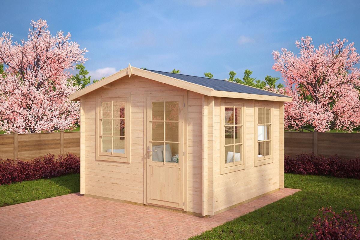 gartenb ro gartenhaus nora c 8 5m 40mm 3x3. Black Bedroom Furniture Sets. Home Design Ideas