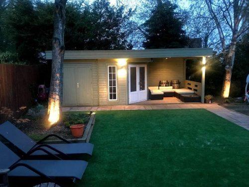 Gartenhaus mit Geräteraum Paula 12,5m² / 40mm / 3x7