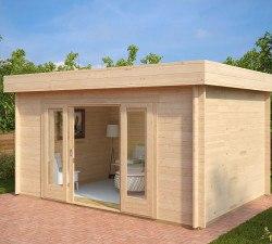 gartenhaus kaufen hansagarten24 gartenhaus holz modern. Black Bedroom Furniture Sets. Home Design Ideas