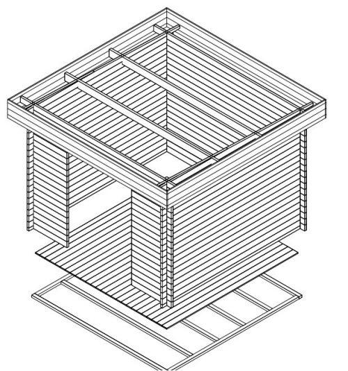Gerätehaus Holz Lucas A