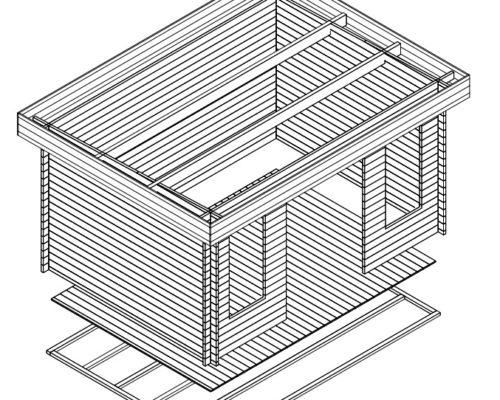 Modernes Gartenhaus Jacob D