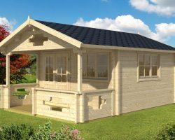 Gartenhaus mit Terrasse Sommerland_A