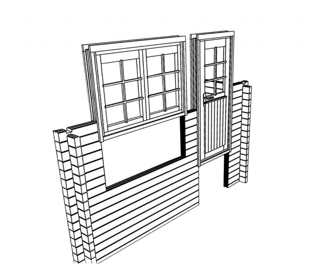 Gartenhäuser Montage