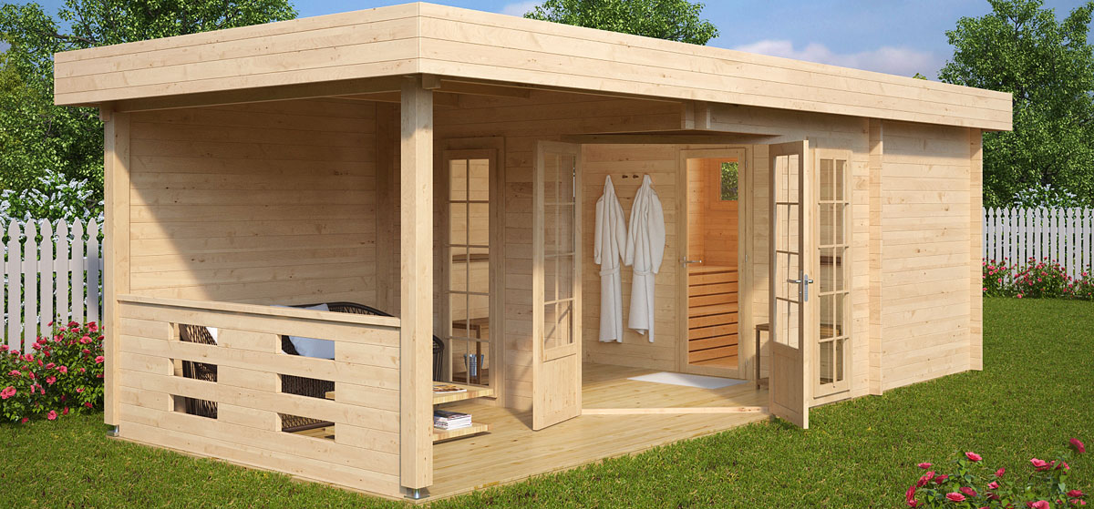 Gartensauna paula hansagarten24 for How to build a backyard sauna
