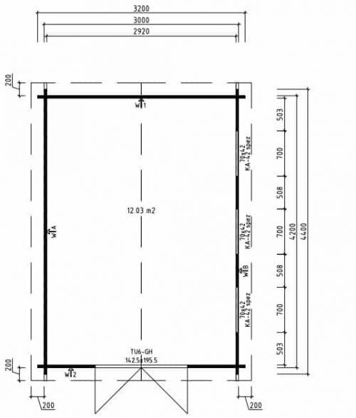 Garten-Werkstatt Eva F Grundplan