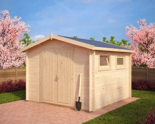 werkstatt aus holz nora f 8 5m 40mm 3x3 hansagarten24. Black Bedroom Furniture Sets. Home Design Ideas
