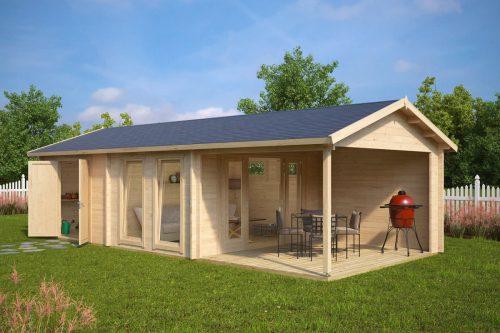 Gartenhaus mit 2 r umen robin 22m 58mm 9x4 for Gartenhaus mit zwei raumen