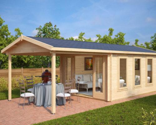 Gartenhaus mit Terrasse Eva E