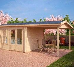 gartenh user mit terrasse oder veranda seite 2 von 3 hansagarten24. Black Bedroom Furniture Sets. Home Design Ideas