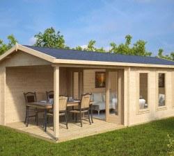 gartenhaus mit terrasse kaufen gro e auswahl und beste. Black Bedroom Furniture Sets. Home Design Ideas