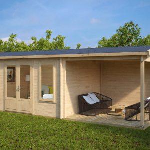 Holz-Gartenhaus mit Terrasse Eva D