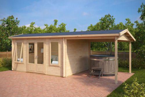 Holzhaus mit Terrassendach Eva D