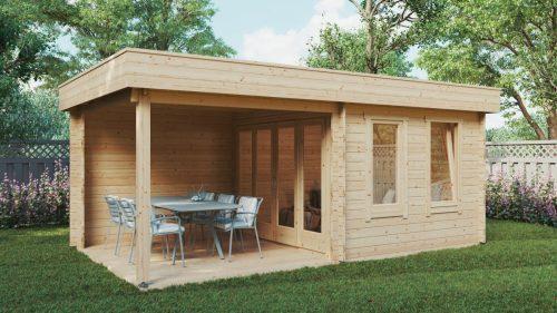 Modernes Gartenhaus mit Terrasse Lucas E