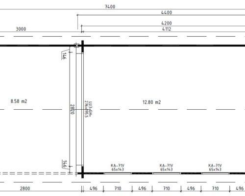 Modernes Gartenhaus aus Holz mit Terrasse Jacob E grundplan