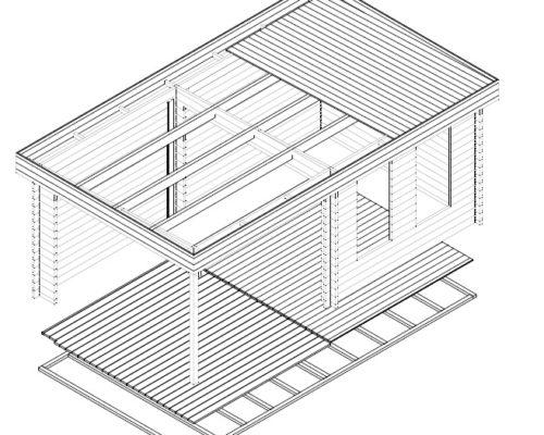 Modernes Gartenhaus mit Veranda Lucas E