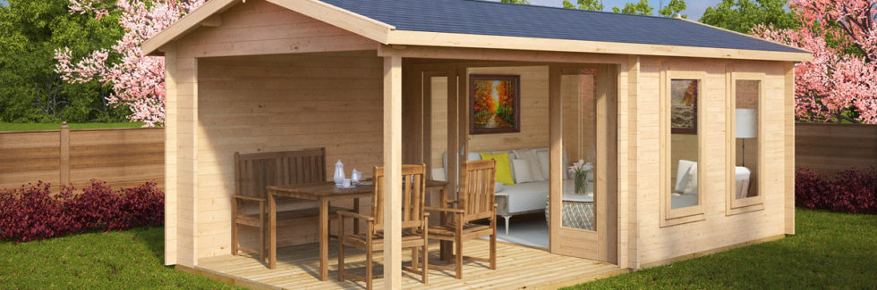 Gartenhaus Nora E mit Terrasse