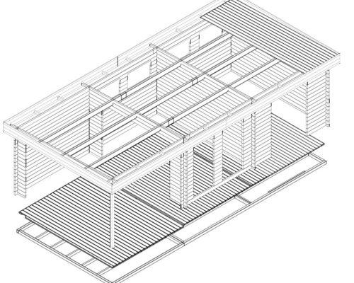 2-Raum Gartenhaus Rio