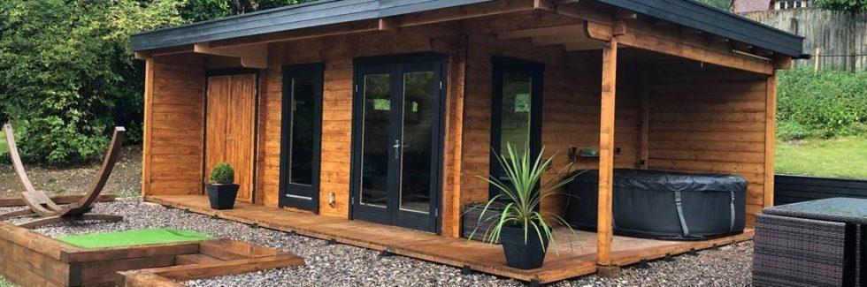 Gartenhaus Hansa Lounge XXL mit 2 Zimmern 22m² 44mm 5×8 3